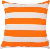 Sierkussen 45x45 cm Indigo island Amsterdam / oranje /  streep 5