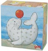 Goki Cube puzzle baby animals II
