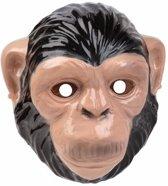 Chimpansee/apen masker 3D plastic 22cm - dieren gezichtsmasker