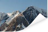 Bergtoppen in het Nationaal park Westland Tai Poutini in Nieuw-Zeeland Poster 60x40 cm - Foto print op Poster (wanddecoratie woonkamer / slaapkamer)