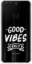 Honor 8 Hoesje Good Vibes wit