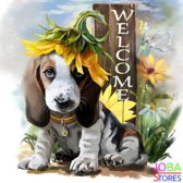 "Diamond Painting ""JobaStores®"" Welcome Dog - volledig - 40x40cm"