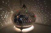 Oosterse tafellamp star kristals