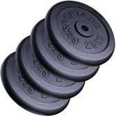 ScSPORTS® 100 kg Halterschijven set gietijzer 30 mm