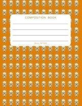 Skull Pattern - Composition Book: College Ruled - 200 pages - 100 Sheets - 7.44''x 9.69''