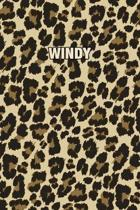 Windy: Personalized Notebook - Leopard Print Notebook (Animal Pattern). Blank College Ruled (Lined) Journal for Notes, Journa