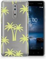 Nokia 8 Uniek TPU Hoesje Palmtrees