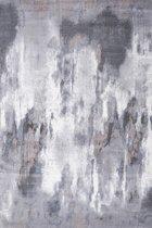 Laagpolig Design Vloerkleed Diamond160x230 cm - Grijs