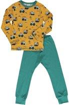 Maxomorra Pyjama Set LS BRICK BUILDERS 122/128
