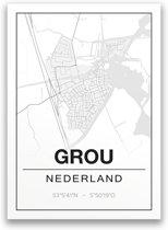 Poster/plattegrond GROU - A4