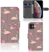 iPhone 11 Telefoonhoesje met Pasjes Flamingo