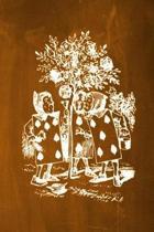 Alice in Wonderland Chalkboard Journal - Painting the Roses Red (Orange)