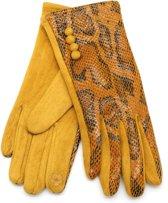 Handschoenen met Slangenprint - Dames - Touchscreen Tip - Geel - Dielay