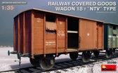 Miniart - Railway Covered Goods Wagon 18 T Ntv (Min35288)