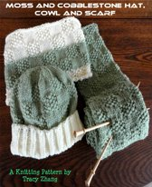 Moss and Cobblestone Hat with Matching Cowl and Scarf