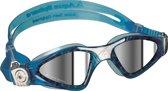 Aqua Sphere Kayenne Small - Zwembril - Mirrored Lens - Aqua/Wit