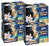 FELIX Sensations Saus - Vis - Kattenvoer - 4 x 12 x 100 g