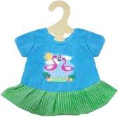 Heless Poppenkleding Jurk Flamingo Groen/blauw 35-45 Cm