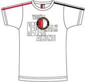 Feyenoord T-shirt game wit junior maat 164