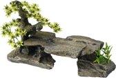 Aqua-Della Aquarium Bonsai Steen Plant Grijs 34x15,5x21 cm