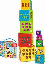Bumba Stapelblokken - Kubus met 10 blokken