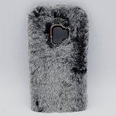 Voor Samsung S9 – pluizig hoesje – grijs