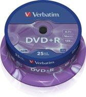 Verbatim 43500 DVD+R Matt Silver Schijven - 25 Stuks / Spindel
