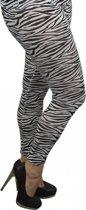 Zebra legging voor dames 40/42 (L/XL)