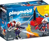 PLAYMOBIL Brandweerteam met waterpomp - 9468