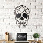 Metalen Schedel - Skull - Geometrische Muurdecor van de Schedel - Zwaart- by Hoagard   Koele Gift Idee voor Hem   Inspiratie voor je Tinerkamer   Cadeau voor Hem