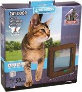 Cat door 4-ways brown - big cat