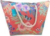 Luna Cove Butterfly & Flowers Strandtas Shopper Beach Bag Trendy Tas