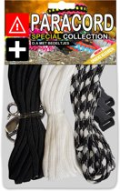 Paracord Set - Special Collection (Zwart / Wit / Black & White)