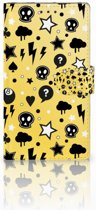 Samsung Galaxy Note 3 Uniek Boekhoesje Punk Yellow