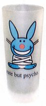 Happy Bunny - longdrinkglas - cute but psycho