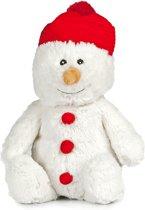 Warmteknuffel lavendel - tarwe sneeuwman