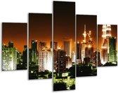 Glasschilderij Steden | Groen, Bruin, Wit | 100x70cm 5Luik | Foto print op Glas |  F003042