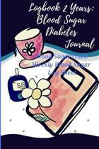 logbook 2 years: blood sugar logbook, diabetes journal, blood sugar journal level log: log for blood sugar reading, 110 weeks: Blood su