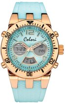 Colori Digital Sports 5-CLD120 - Horloge - siliconen band - turquoise - Ø 46 mm