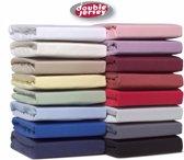 Doubel Jersey ™ - Hoeslaken Jersey 100% Katoen   -160X200 Cm - Aqua