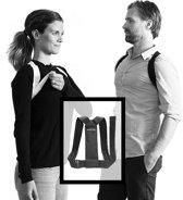 Posture Flexi Corrector - Postuur en houdingtrainer -  M/L - zwart