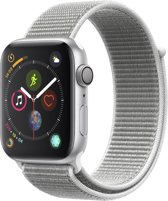 Apple Watch Series 4 - 44 mm - zilver met grijze Nylon sportband