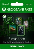 Microsoft Xbox Game Pass - 3 Maanden Abonnement - Xbox One
