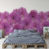Fotobehang Purple Flowers   VEXXXL - 416cm x 254cm   130gr/m2 Vlies