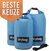 Drybag.store - waterdichte tassen set - 10l, 20l, 30l blauw