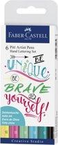 Tekenstift Faber-Castell Pitt Artist Pen handlettering I 6-delig etui