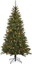 Black Box Smalle Kunstkerstboom 215 cm - met verlichting - 767 takken - 240 LED's - Groen