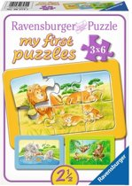 Ravensburger Aap olifant en leeuw My First Puzzels 3x6 stukjes