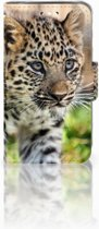 Huawei Y360 Uniek Boekhoesje Baby Luipaard Met Opbergvakjes