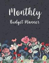 Monthly Budget Planner: Floral Garden Watercolor Cover - Simple Finance Budgeting Workbook Monthly & Weekly Budget Planner - Debt Tracker - Bi